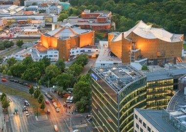 Berlin, Germany, - August 29, 2015: Potsdamer platz from above
