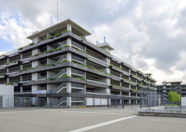 exterior of multi-level public car parking