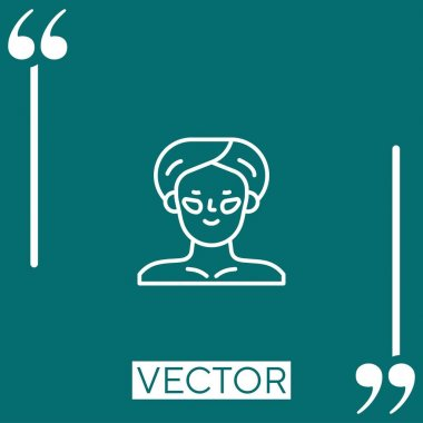 Eye patch vector icon Linear icon. Editable stroked line icon