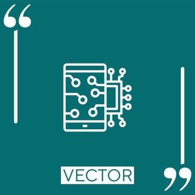 Mobile vector icon Linear icon. Editable stroked line icon