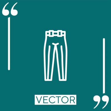 Trousers   vector icon Linear icon. Editable stroke line icon