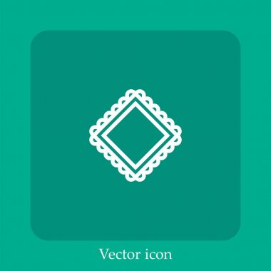 Handkerchief vector icon linear icon.Line with Editable stroke icon