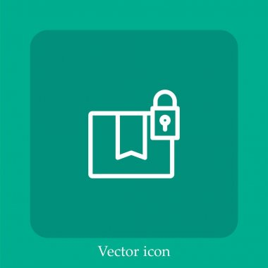 Locked pack vector icon linear icon.Line with Editable stroke icon