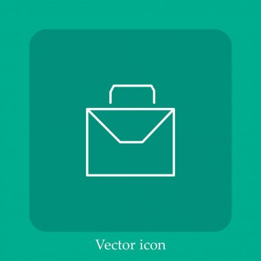 Mail with handle vector icon linear icon.Line with Editable stroke icon