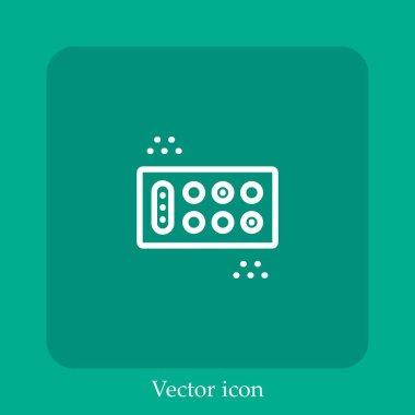 Mancala vector icon linear icon.Line with Editable stroke icon