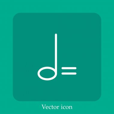 Minim vector icon linear icon.Line with Editable stroke icon
