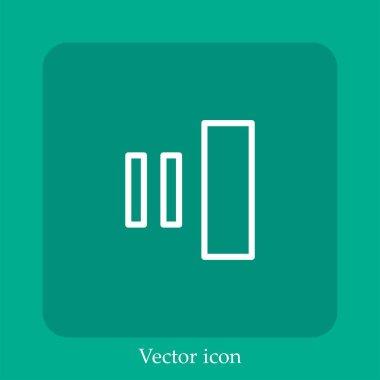 Neutral clef vector icon linear icon.Line with Editable stroke icon