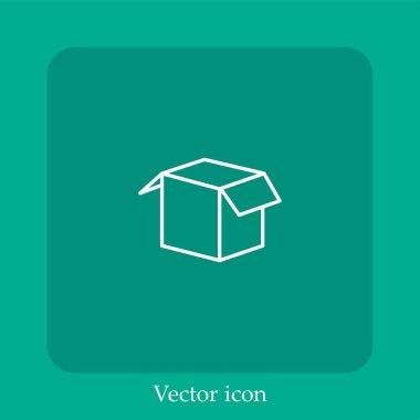 Open box vector icon icon