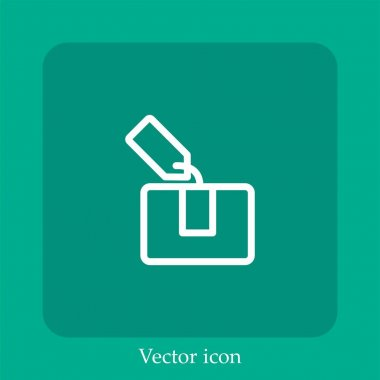 Tagged package vector icon linear icon.Line with Editable stroke icon
