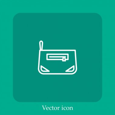 Bag vector icon linear icon.Line with Editable stroke icon