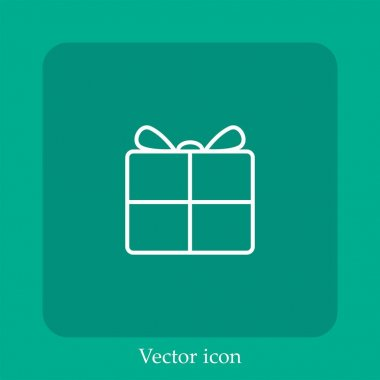 Present vector icon linear icon.Line with Editable stroke icon