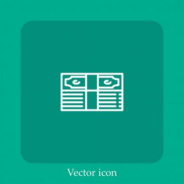 Pack of bills vector icon linear icon.Line with Editable stroke icon