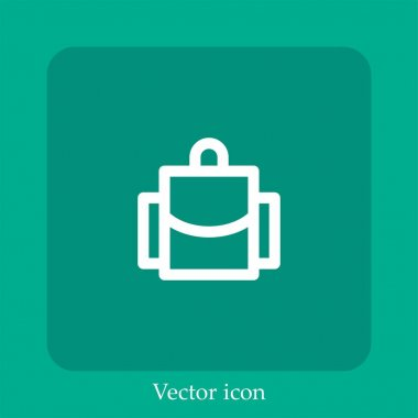 Backpack vector icon linear icon.Line with Editable stroke icon