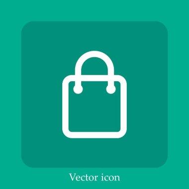 Shopping bag vector icon icon