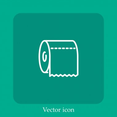 Toilet paper vector icon linear icon.Line with Editable stroke icon