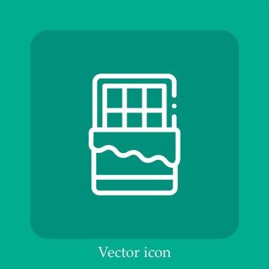 Chocolate bar vector icon linear icon.Line with Editable stroke icon