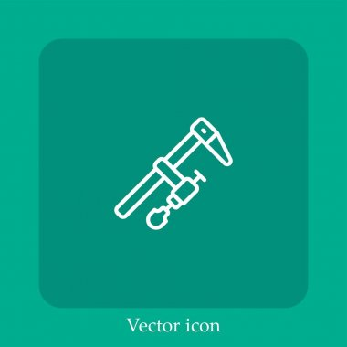 Clamp   vector icon linear icon.Line with Editable stroke icon