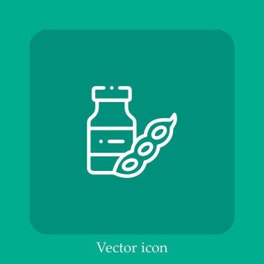 Soy milk vector icon linear icon.Line with Editable stroke icon