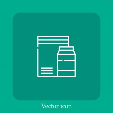 Packaging vector icon linear icon.Line with Editable stroke icon