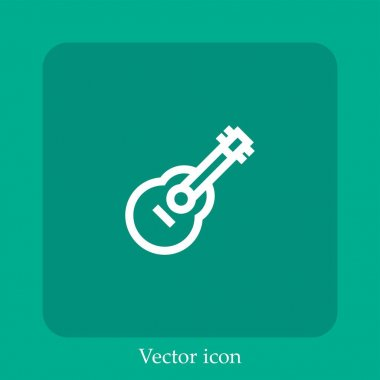 Guitar vector icon linear icon.Line with Editable stroke icon