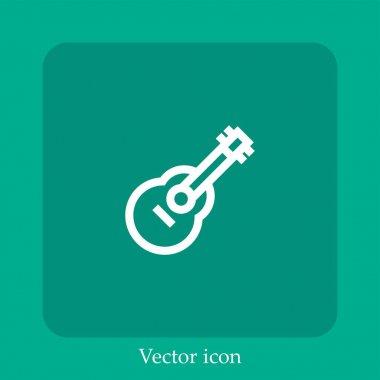 Guitar vector icon linear icon.Line with Editable stroke icon