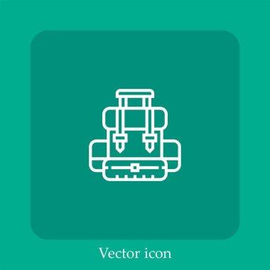 School bag vector icon linear icon.Line with Editable stroke icon
