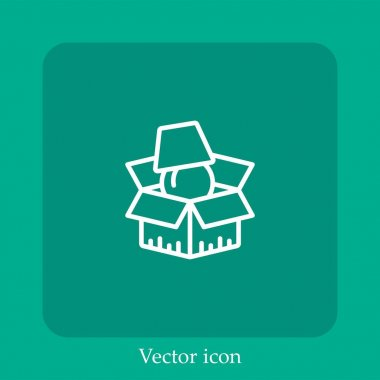 Packing vector icon linear icon.Line with Editable stroke icon