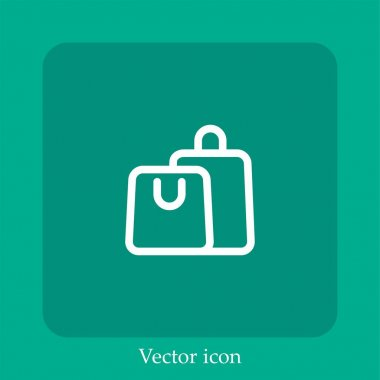 Shopping bags vector icon linear icon.Line with Editable stroke icon