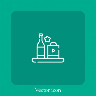 Product vector icon linear icon.Line with Editable stroke icon