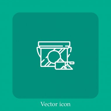Detergent vector icon linear icon.Line with Editable stroke icon