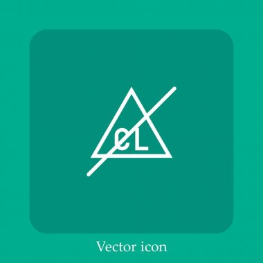 Bleach   vector icon linear icon.Line with Editable stroke icon