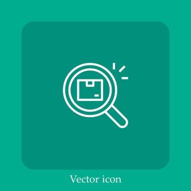 Box   vector icon linear icon.Line with Editable stroke icon