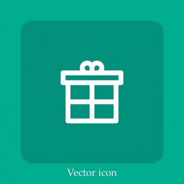 Gift vector icon linear icon.Line with Editable stroke icon