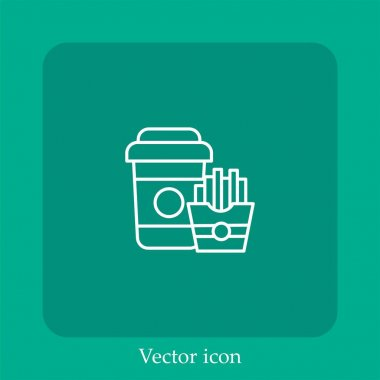 Chips vector icon linear icon.Line with Editable stroke icon