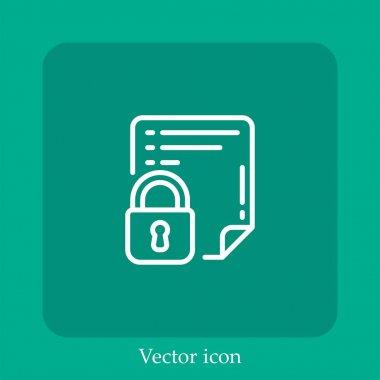 Locked vector icon linear icon.Line with Editable stroke icon