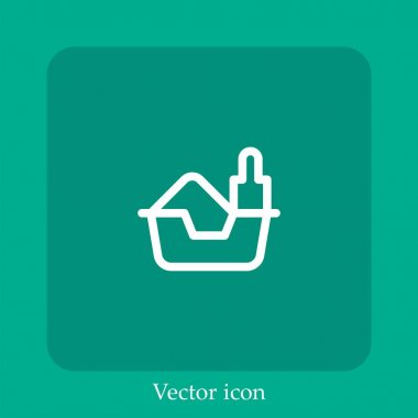 Litter box vector icon linear icon.Line with Editable stroke icon