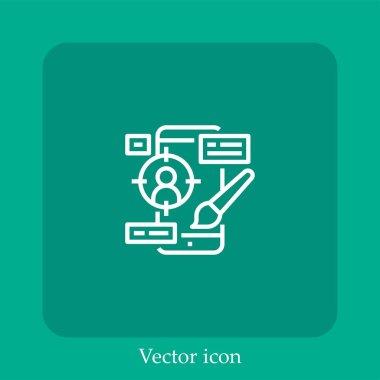 Ui   vector icon linear icon.Line with Editable stroke icon