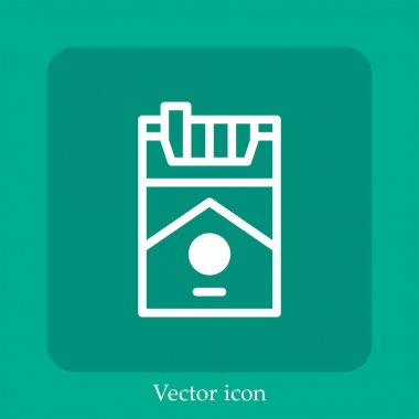 Cigarette vector icon linear icon.Line with Editable stroke icon