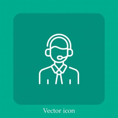 Commentator vector icon linear icon.Line with Editable stroke icon