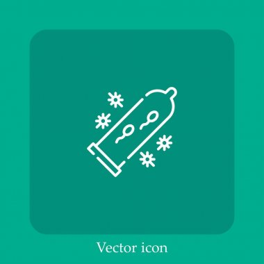 Condom vector icon linear icon.Line with Editable stroke icon