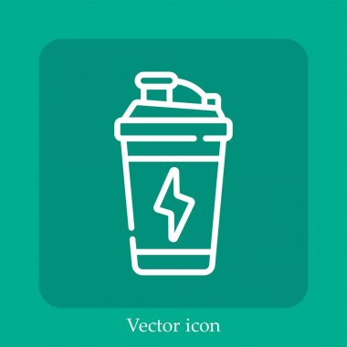 Energy drink vector icon linear icon.Line with Editable stroke icon