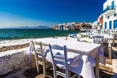 Pronti per la cena di Mykonos