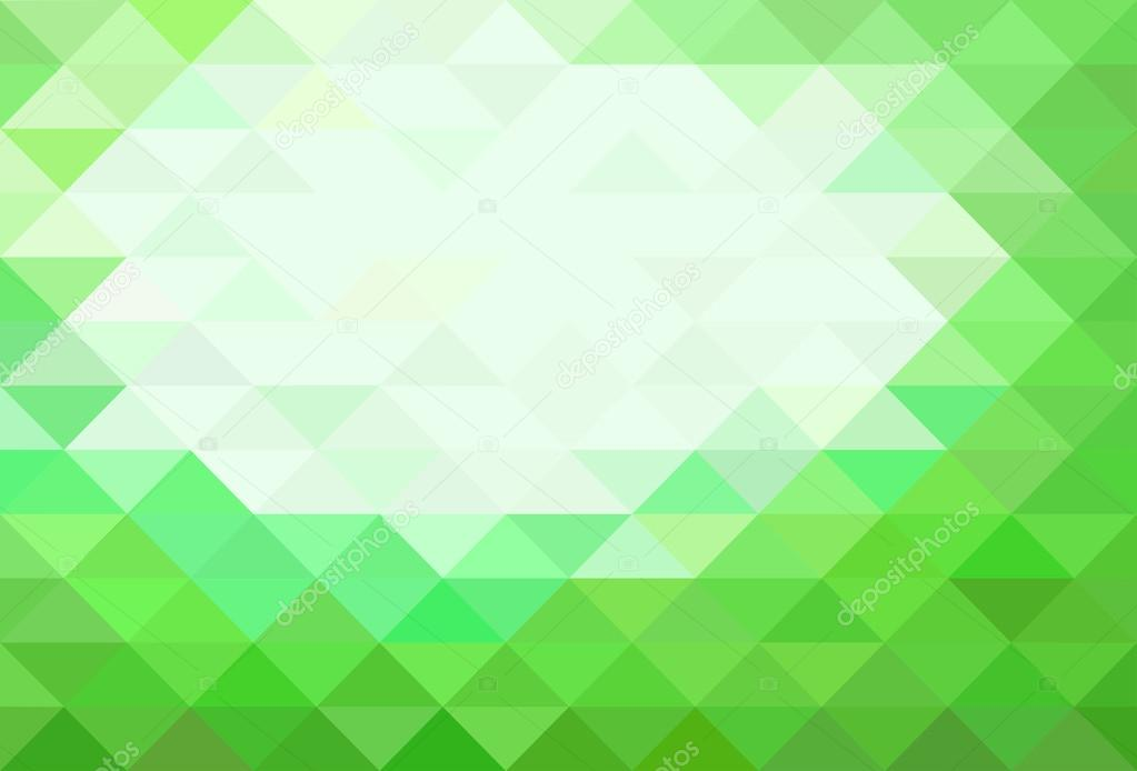 Green Abstract Low Poly Balackground  — Stock Vector