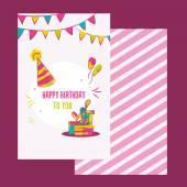 Vektorové šťastné k narozeninám. Barevné Veselé narozeniny designu lze použít pro šťastné narozeniny transparenty, promo, všechno nejlepší k narozeninám ikony, všechno nejlepší k narozeninám pozvánky, letáky