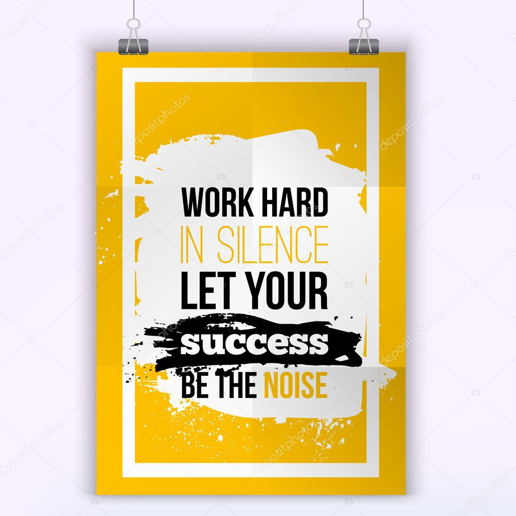 Silence Quotes Wallpaper Vector Business Success Quote Work Hard In Silence Let Your Success Be The Noise Wisdom In Success Modern Poster Mock Up Stock Vector C Alena St 104937246