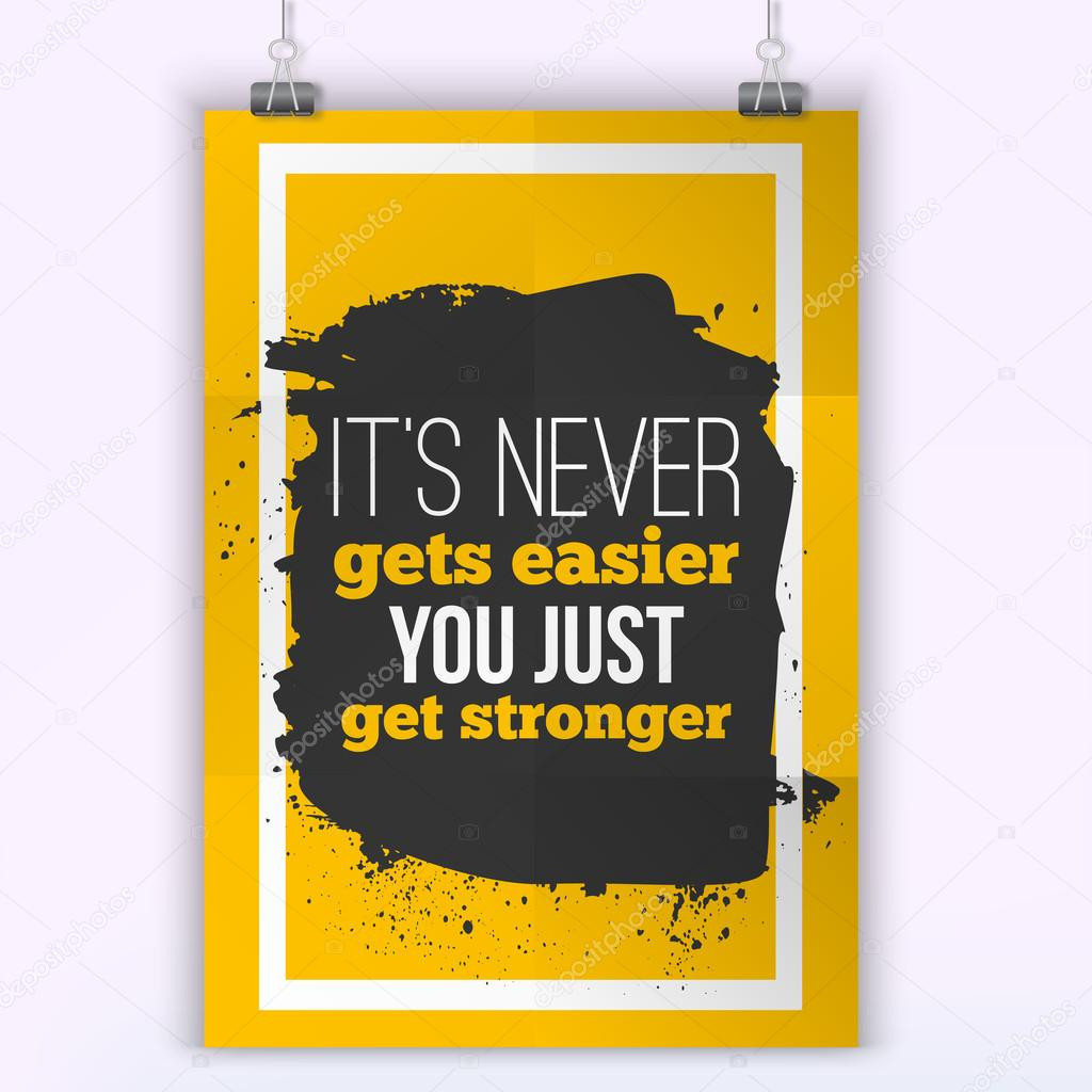 Get Stronger stay typography vector illustration. quote for wall art ...