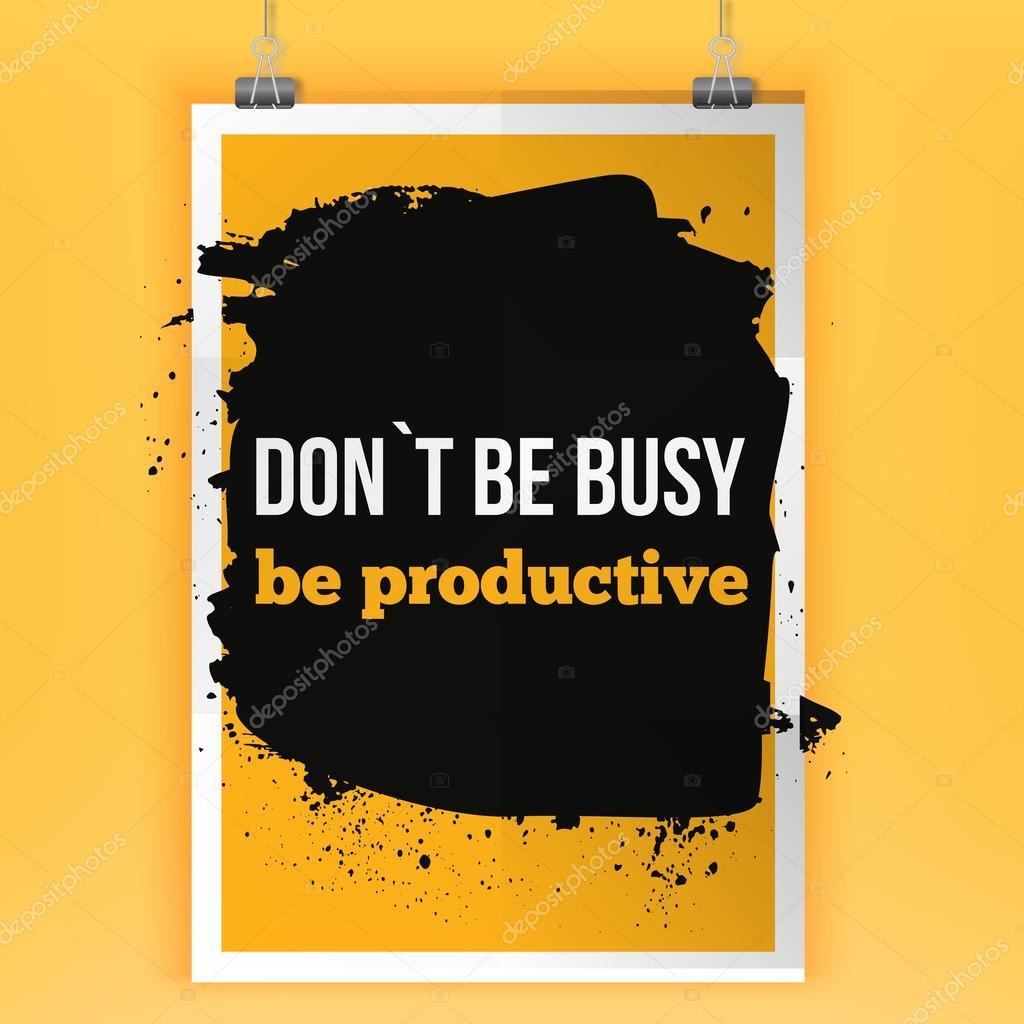 Ser Productivo Lema De La Empresa Afirmación Positiva