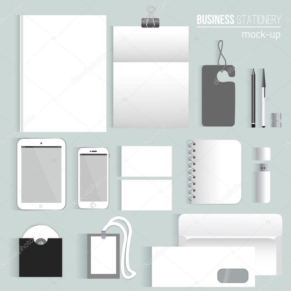Vector clean Blank corporate identity set of Stationery Branding ...