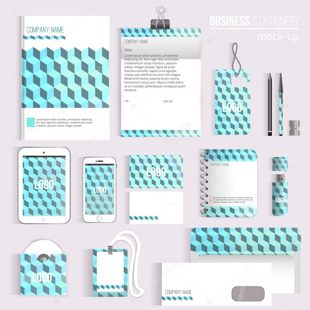 Vector cube corporate identity set of stationery branding consist vector cube corporate identity set of stationery branding consist of letterhead book pen pencil note phone business cards cd envelope eps10 reheart Choice Image