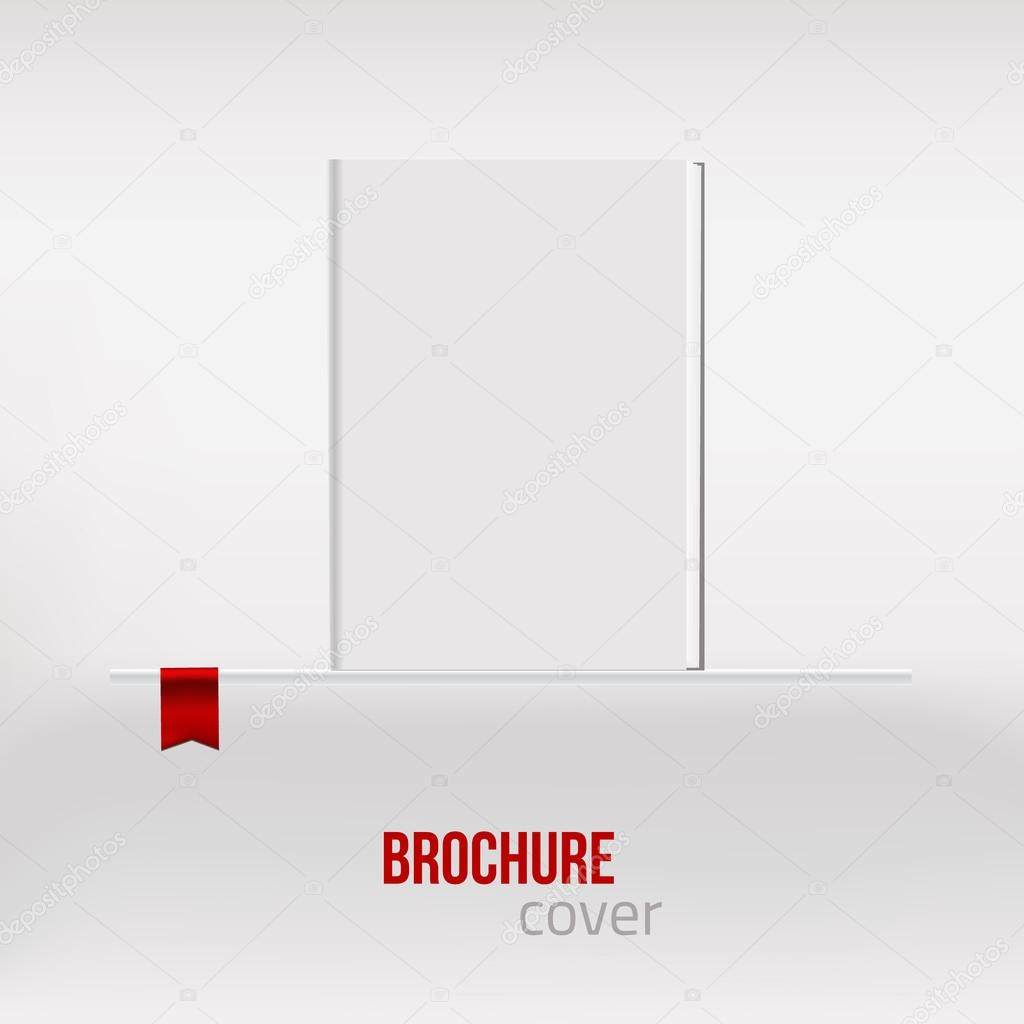 vector blank vertical blank book cover template standing at shelf